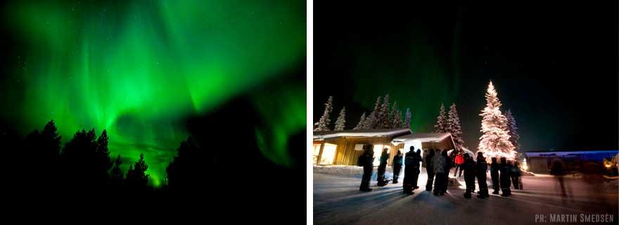 Aurora Boreal desde Ice Hotel en Suecia