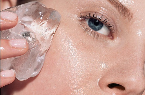 Why rubbing ice on your skin could help combat acne
