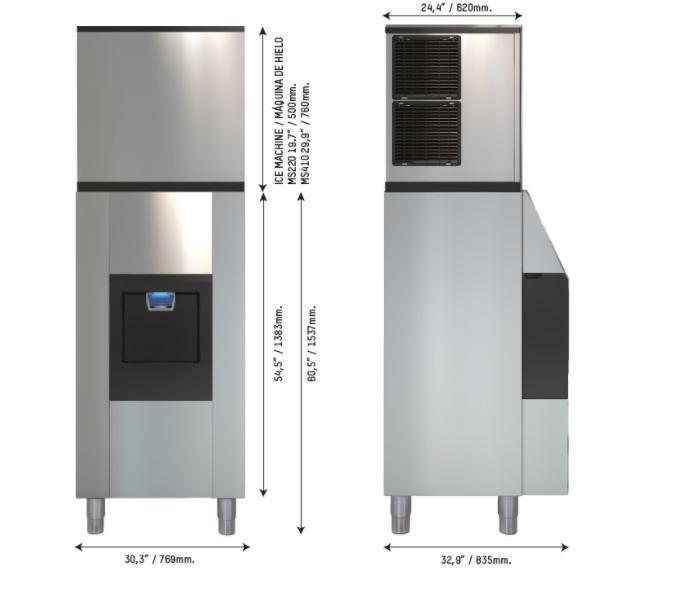 Dispensador de hielo como solución en la restauración