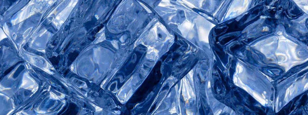 Ice machine ice for hospitality