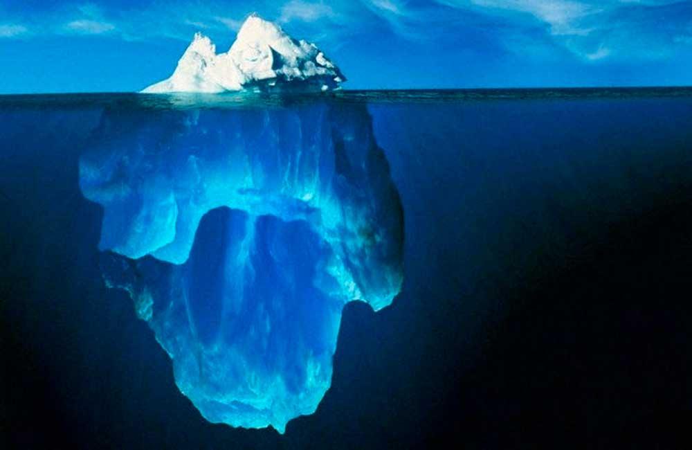Composición de un iceberg