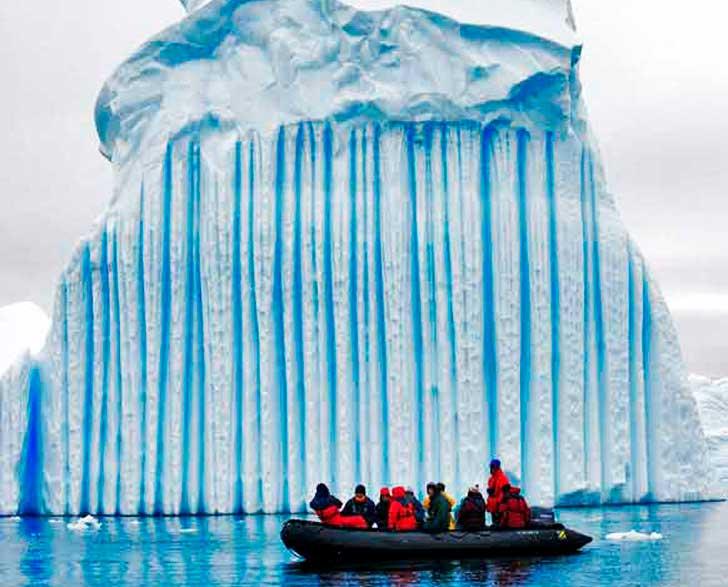 El iceberg es salado