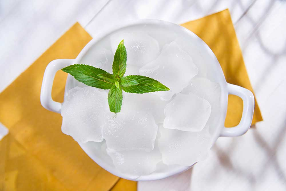 Preparation of homemade ice cubes
