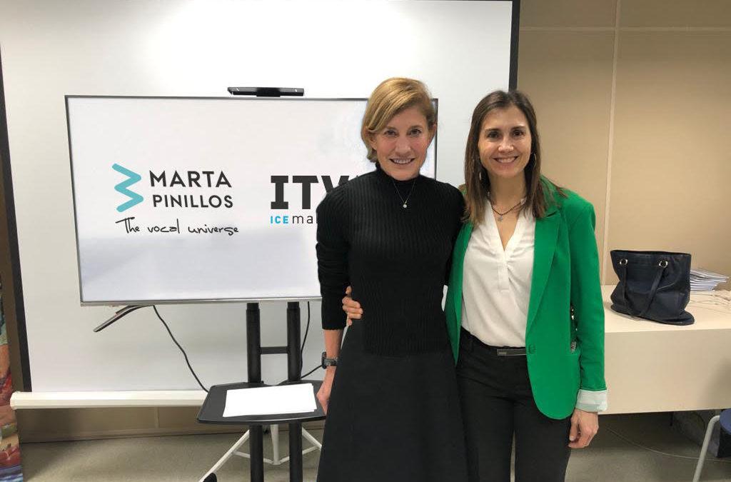Marta Pinillos enseña en ITV Ice Makers «La comunicación no verbal»