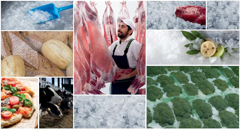La importancia del hielo para la industria alimentaria