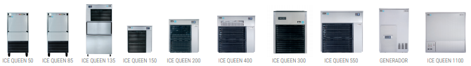 Máquinas de hielo gama ice Queen